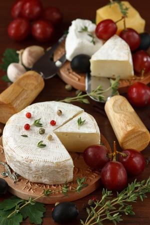 queso blanco: Surtido de queso  Foto de archivo