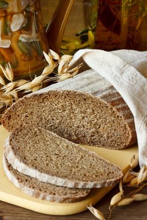 Fresh rye bread. photo