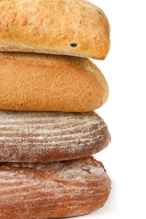 Four warm tasty breads. photo