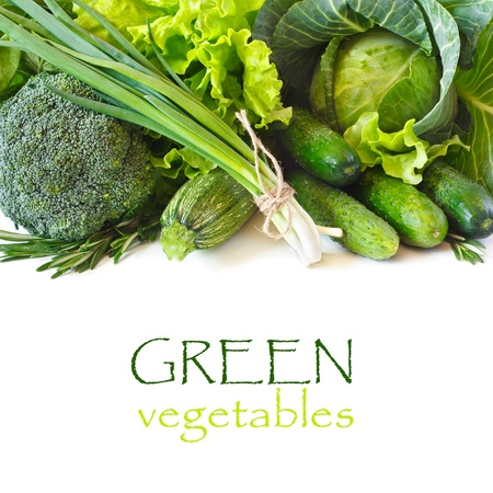 vegetable marrow: Green vegetables