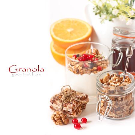 granola bar: Granola for healthy breakfast. Stock Photo