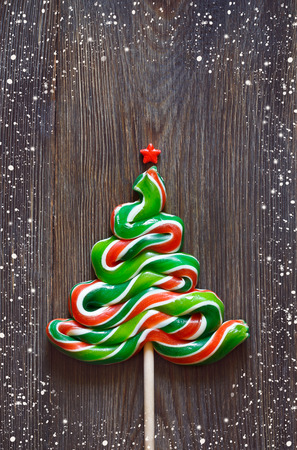 lolly pop: Christmas tree lolly pop.