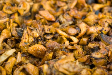 broiled: Broiled chanterelles