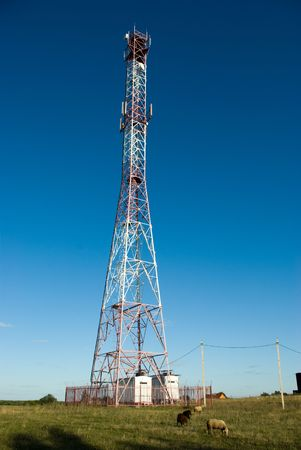 Cell phone tower in countryside Stock Photo - 5489505