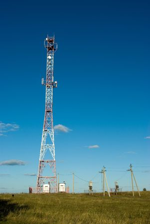 Cell phone tower in countryside  Stock Photo - 5588976
