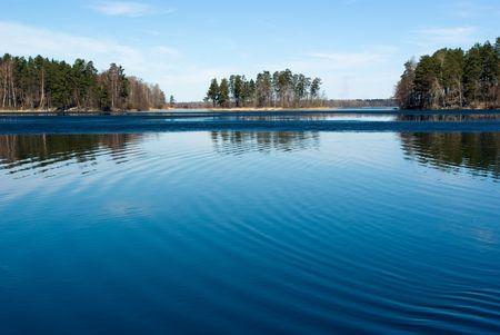 Vuoksi River Spring Landscape, Russia Stock Photo - 5588954