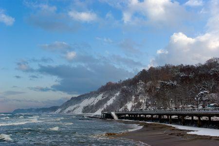 Baltic sea embankment in Svetlogorsk. Russia Stock Photo - 6247406