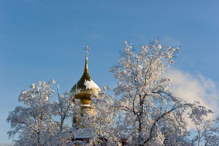 Russian orthodox church. Pokrov church in Saint-Petersburg, Russia. photo
