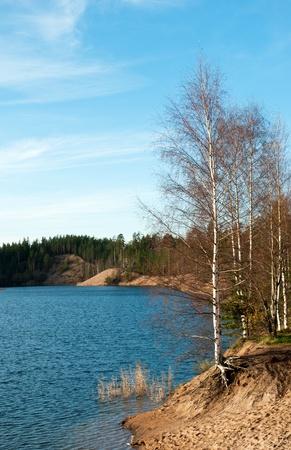 Autumn lake landscape in Leningrad region, Russia Stock Photo - 12932508