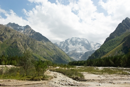 Adyr-su valley in Kabardino-Balkaria (Russia) in summer