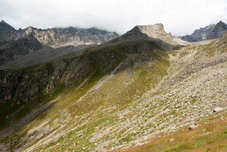 Adyr-su valley in Kabardino-Balkaria  Russia , mountain landscape