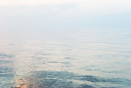 Lake Ladoga in sunset line, Leningrad oblast, Russia