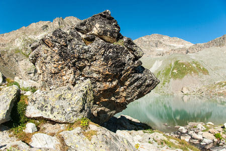 Sofia lake in Arkhyz, Greater Caucasus mountains, Karachay?Cherkessia, Russia