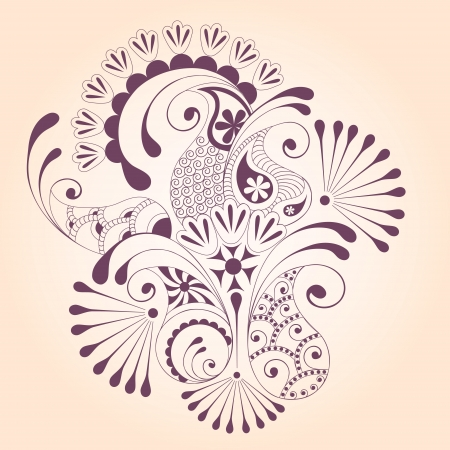 Floral paisley design elements Vector