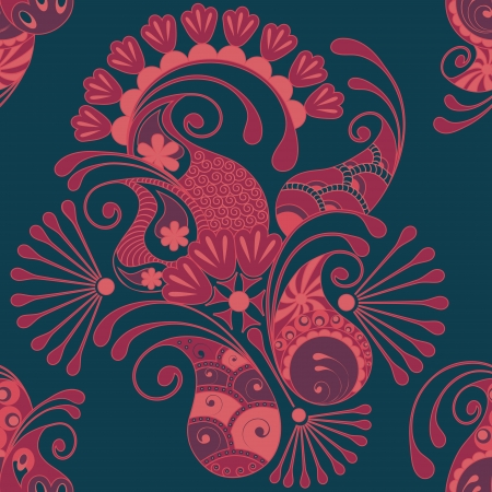 arabesque: Paisley seamless pattern