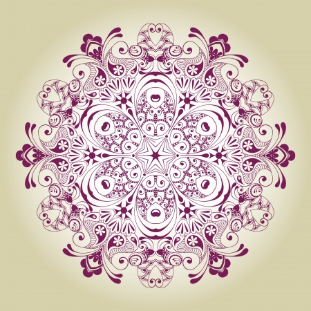 Abstract ornamental circle  Round lace Vector