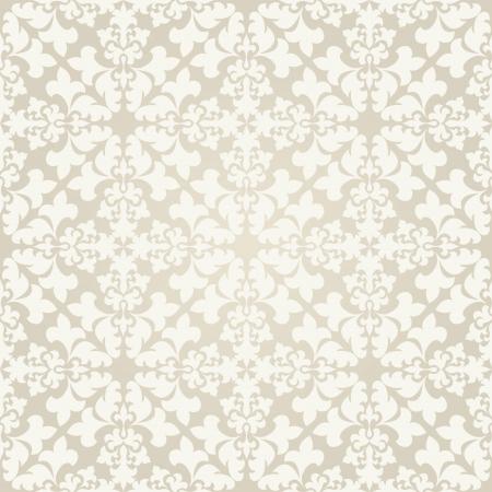 Seamless damask wallpaper  Abstract ornament  Vector illustration