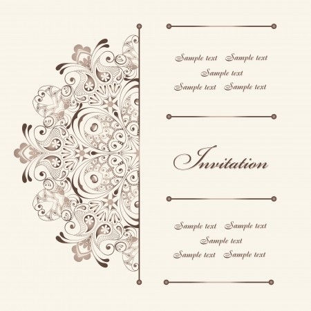 Beautiful invitation card with floral elements Vector