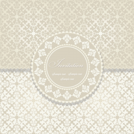 Beautiful invitation card with vintage floral elements Vector