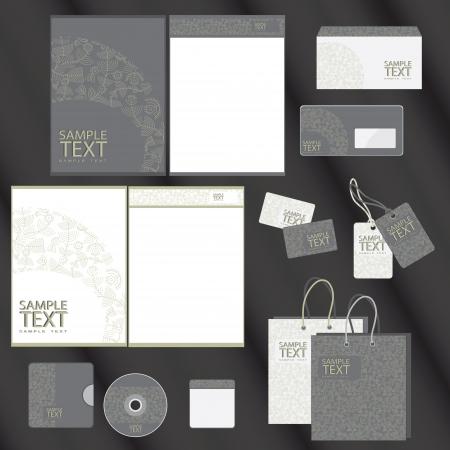 papier en t�te: Mod�le pour les oeuvres d'affaires illustration