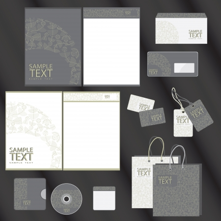 stationary: Template for Business artworks  illustration