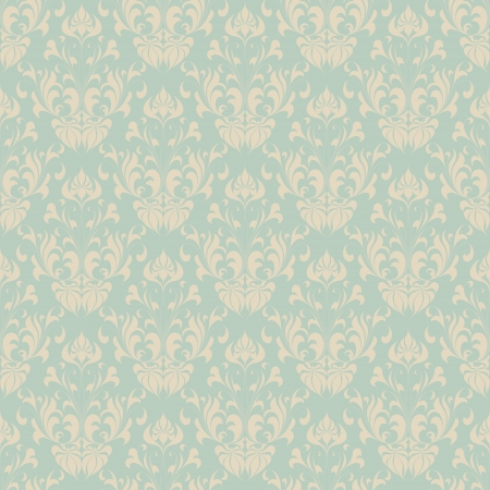 Seamless vintage wallpaper pattern. Abstract floral ornament. illustration.