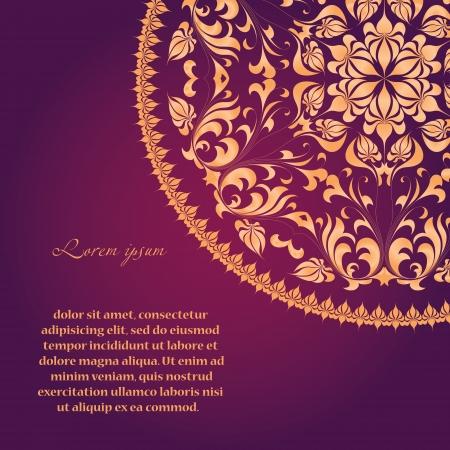 Beautiful invitation card with vintage floral elements Zdjęcie Seryjne - 20096851