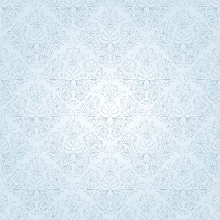 Seamless vintage wallpaper pattern. Abstract floral ornament. Vector illustration. Ilustrace