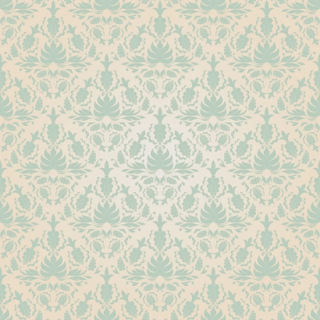 Seamless vintage wallpaper pattern. Abstract floral ornament. Vector illustration. Stock Illustratie