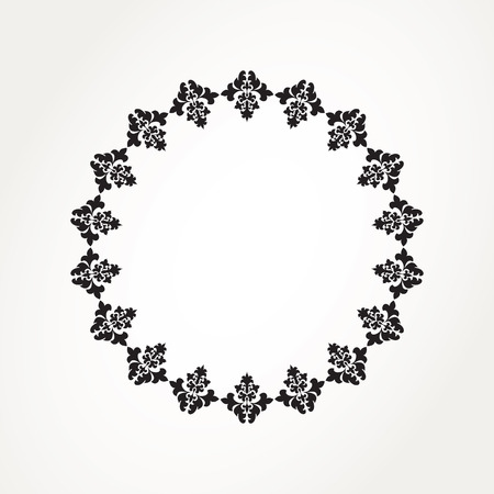 Abstract ornamental circle. Round lace Vector