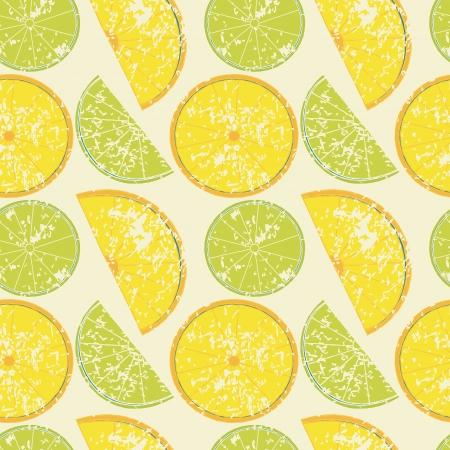 Seamless pattern con limoni e limette Archivio Fotografico - 22815573
