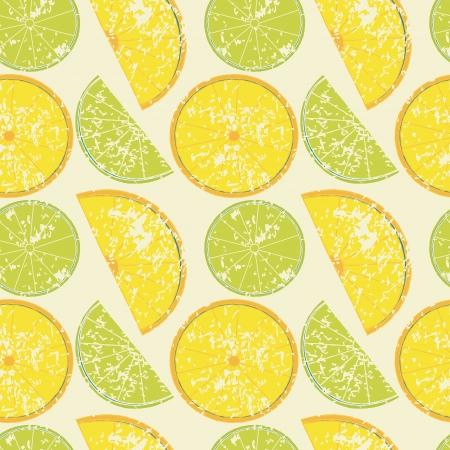 Seamless pattern with lemons and limes Ilustracja