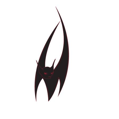 symbol: Halloween bat  isolated on a white background.