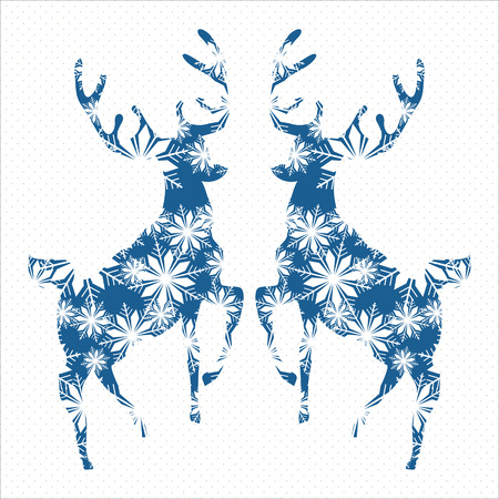 Abstract tiangle deer isolated on white. Vector illustration.  Holiday design. Winter.