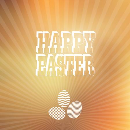 vintage etiket:  Easter vintage label. Vector web and mobile interface blured background.  Vector illustration.