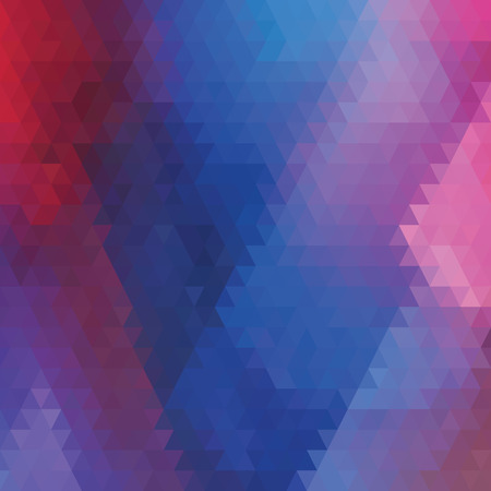 Geometric background. Multicolored triangles. Bokeh effect. Retro vector illuctration Vector