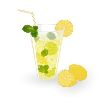 Lemonade isolated on white background, vector illustration Vector