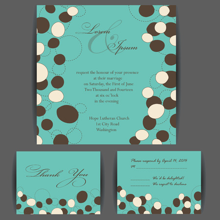 Wedding invitation card with floral elements. Vintage background. Vector illustration. Vector