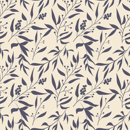Seamless pattern with floral elements. Vintage background. Vector illustration. Stock Vector - 35044441
