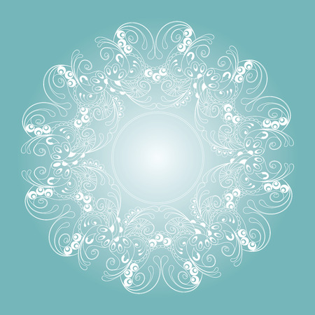 mendie: Circle ornament, ornamental round lace. Vector illustration. Illustration