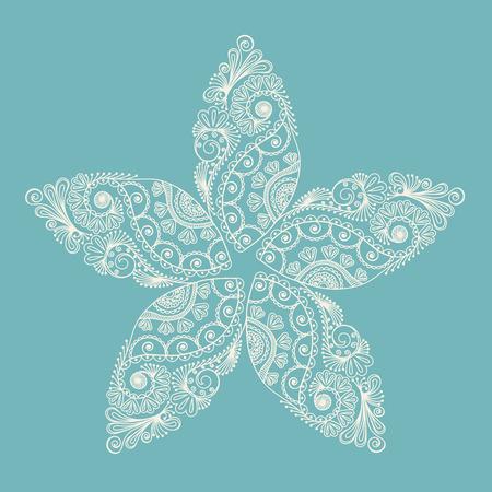 Circle ornament, ornamental round lace. Vector illustration. Vector