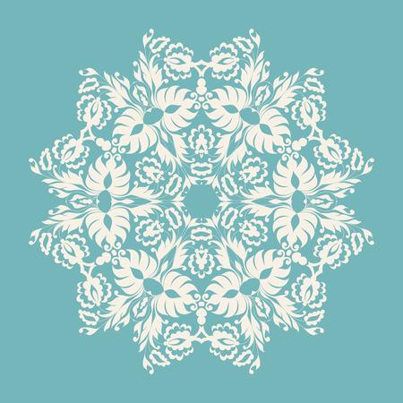 encajes: Ornamento C�rculo, encaje redondo ornamental. Ilustraci�n del vector.