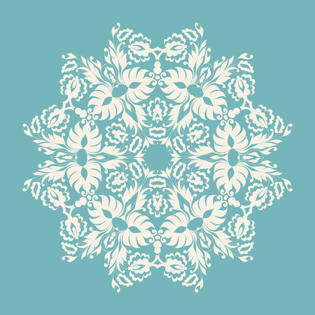 Circle ornament, ornamental round lace. Vector illustration. Illustration