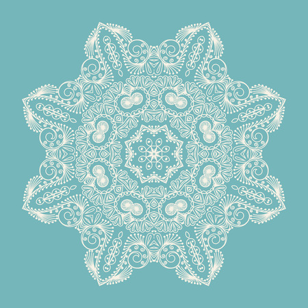 decoration: Circle ornament, ornamental round lace. Vector illustration. Illustration