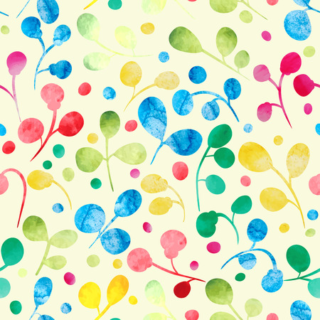 watercolour: Vector floral watercolor pattern. Seamless background. Vector illustration.