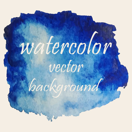 stain: Vector abstract watercolor stain. Hand drawn watercolor background for your design.