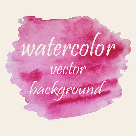 Vector abstract watercolor stain. Hand drawn watercolor background for your design. Vector