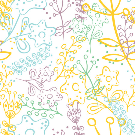 greeting: Seamless pattern with hand drawn doodle flowers . Hand drawn design for Thank you card, Greeting card or Invitation. Vector illustration.