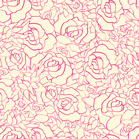 Seamless pattern with hand drawn flowers . Hand drawn design for Thank you card, Greeting card or Invitation. Vector illustration.