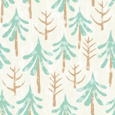 Seamless floral pattern with winter plants. Hand drawn winter holiday design for Christmas and New Year greeting cards, fabric, wrapping paper, invitation, stationery. Illustration